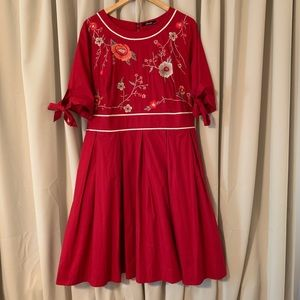 eShatki embroidered A-line dress 2X (22W)